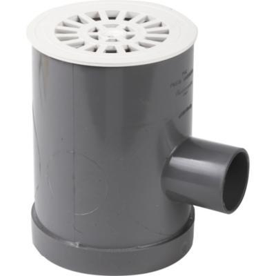 Pileta PVC 110mm x 50mm x 40mm Blanco / Gris 1u