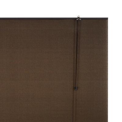 Cortina enrollable poliéster 80x165 cm café oscuro
