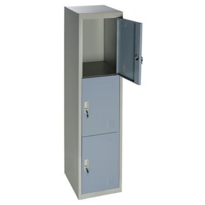 Locker de oficina acero 3 puertas con llave