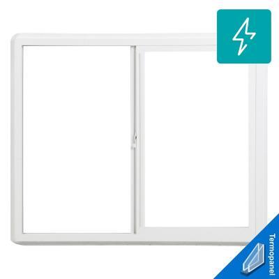 Ventana termopanel PVC americano klassik 121x100 blanco corredera
