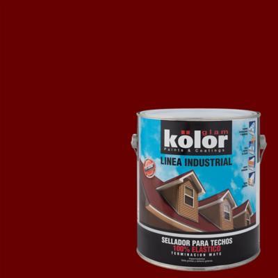 Sellador para techo mate 1 gl rojo