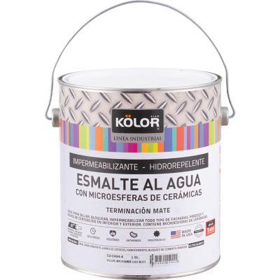 Esmalte impermeabilizante al agua mate blanco 1 gl