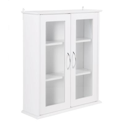 Botiquín para baño 53x62x16 cm blanco