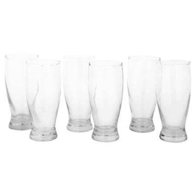 Set de garzas para cerveza vidrio 360 cc 6 unidades