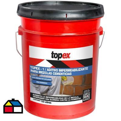 Tineta de 18 litros Impermeabilizante para estructuras de hormigón Topex 1