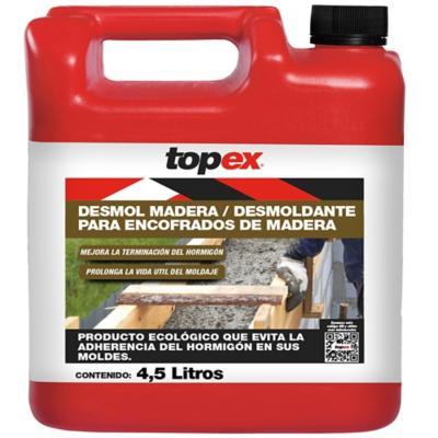Bidón 4.5 litros Desmoldante Topex Desmol madera