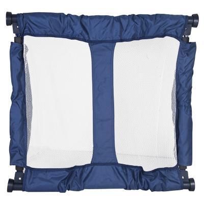 Puerta de seguridad plegable 92x70 cm tela Azul