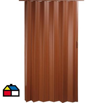 Puerta plegable PVC caoba Tivoli