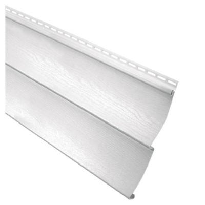 0,20 x 3,81 m Revestimiento exterior de PVC blanco