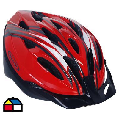Casco ajustable para bicicleta rojo