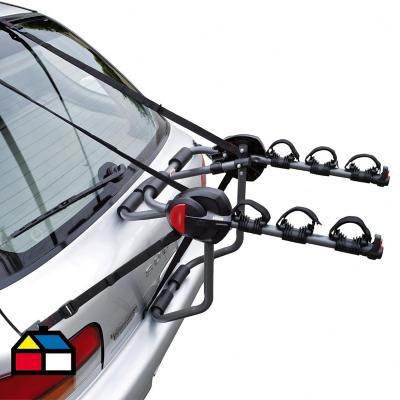 Portabicicletas hasta 3 bicicletas acero negro