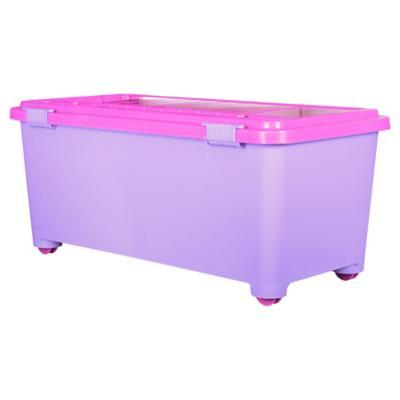 Baúl infantil 72 l 80x40x34 cm lila/rosa