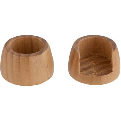 Set de soportes para barra de cortina 19 mm 2 unidades natural