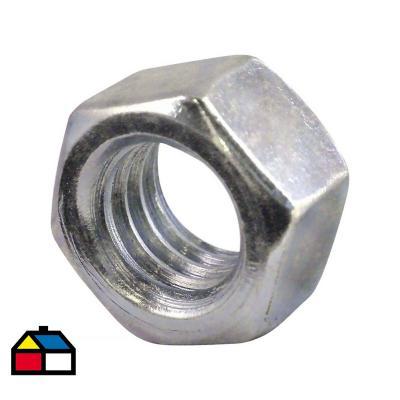 """Tuerca Hexagonal NC G2 5/16"""" ZBR 100 unidades"""