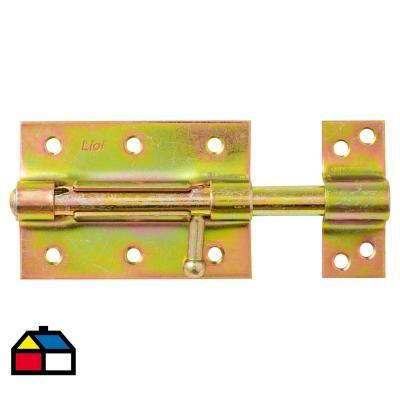 Picaporte para puertas 100 mm dorado