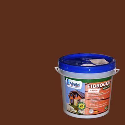 Protector Fibrocemento Opaco 4 litros Caoba