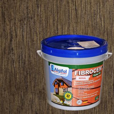Protector Fibrocemento Opaco 4 litros Nogal