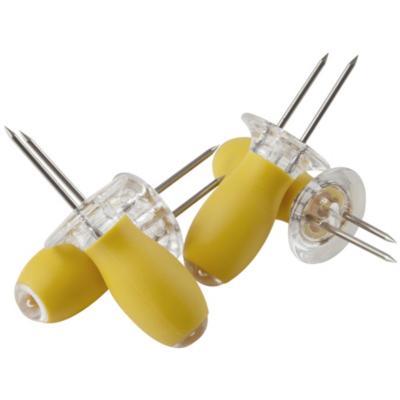 Set pincha choclos 4 unidades amarillo