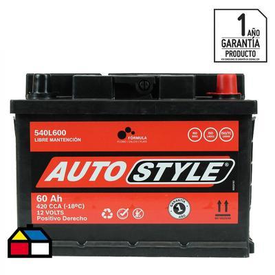 Batería para auto 60 A positivo derecho 420 CCA