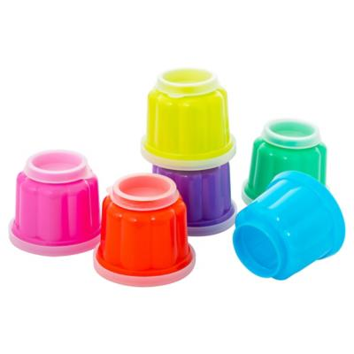 Set moldes para gelatina plástico 6 unidades