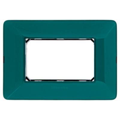 Placa 3 módulos con soporte Esmeralda