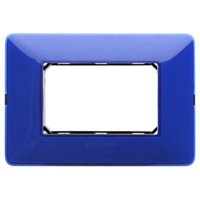 Placa 3 módulos con soporte Cobalto