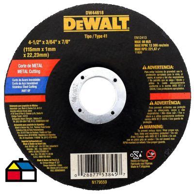 """Disco de corte metal delgado 4"""" óxido de aluminio"""