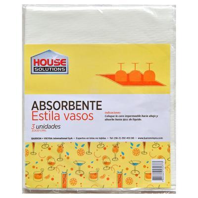 Set de paños absorbentes para vasos 35x50 cm 3 unidades