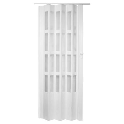 Puerta plegable PVC blanco Lugano 90 x 200 cm
