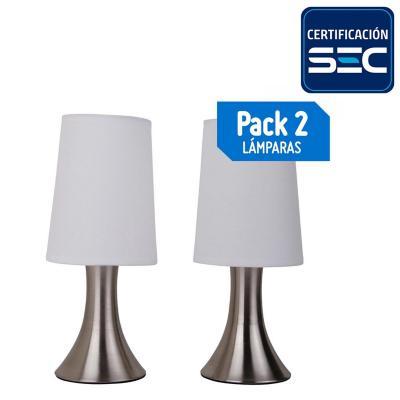 Pack lámparas de mesa 40 W 2 unidades