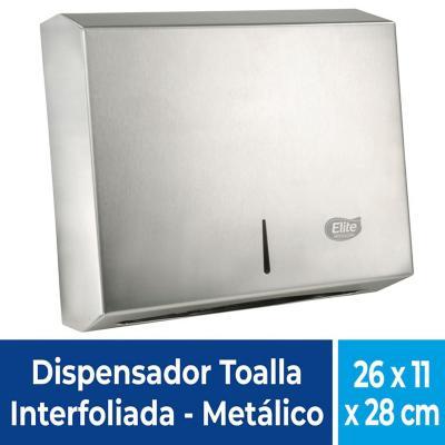 Dispensador de papel higiénico acero 26x28,5x12 cm