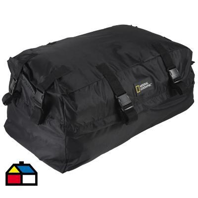 Bolso portaequipaje 39x49x90 cm 172 litros poliéster negro