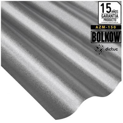 0.35 x 851 x 2000 mm, Plancha Acanalada Onda zinc gris