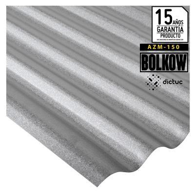 0.35 x 851 x 3000 mm, Plancha Acanalada Onda zinc gris
