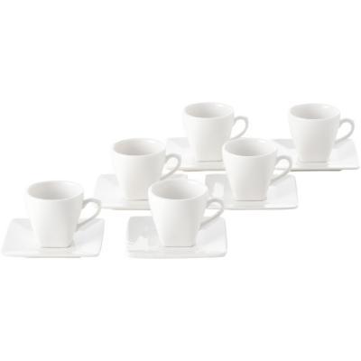 Juego de café 12 piezas blanco