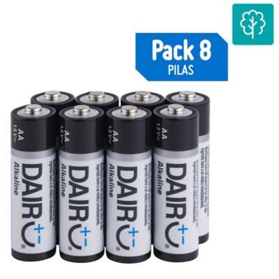 Pack de 8 pilas alcalinas AA 1.5V