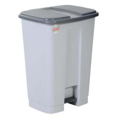 Basurero de Plástico 34 Lts Gris