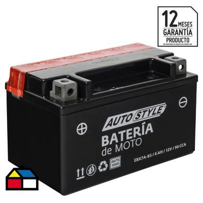 Batería para moto 6 A positivo derecho 90 CCA
