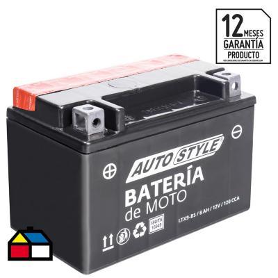 Batería para moto 8 A positivo izquierdo 120 CCA