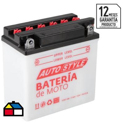 Batería para moto 7 A positivo izquierdo 74 CCA