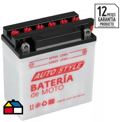 Batería para moto 9 A positivo derecho 85 CCA