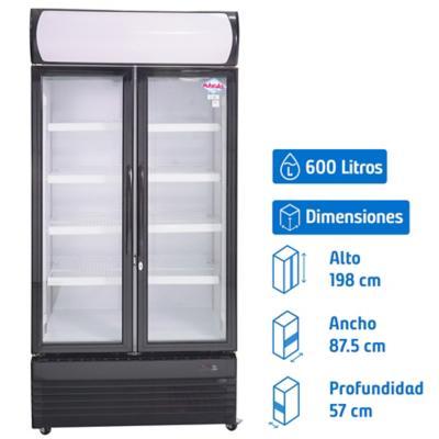 Visi-Cooler 2 puertas 600 litros negro/blanco