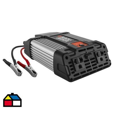 Inversor de corriente 12 V 750 W negro