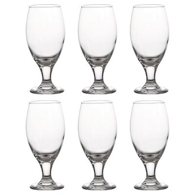 Set de copas para cerveza vidrio 436 ml 6 unidades