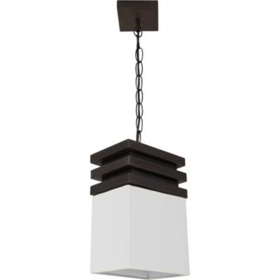 Lámpara de colgar Madera y tela Sima Blanca