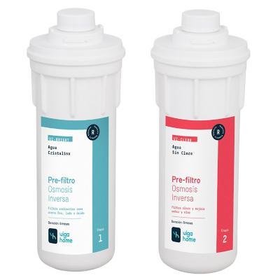 2 pre filtros de pp 5 micras y carbon