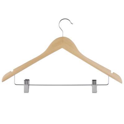 Colgador de ropa con clips madera