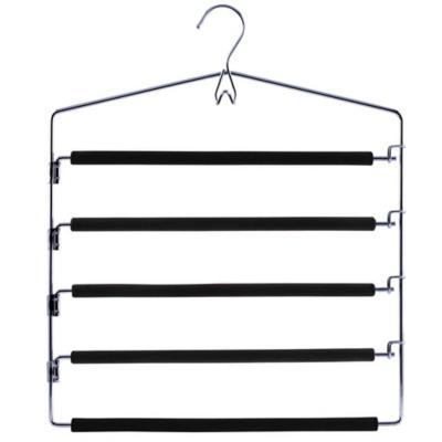 Colgador de ropa metal con 5 barras con espuma