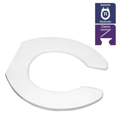 Asiento WC redondo polipropileno blanco