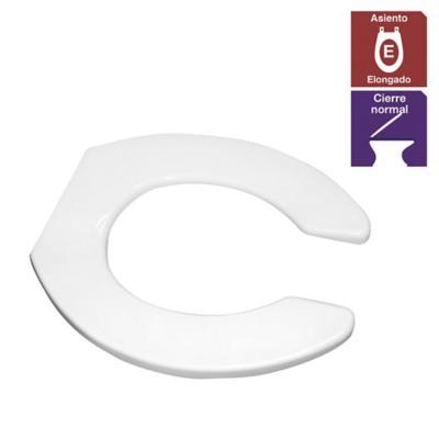 Asiento WC elongado polipropileno blanco